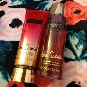 Victoria's secret body spray and lotion